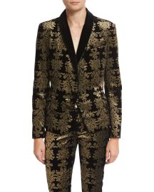Brocade Velvet Blazer at Neiman Marcus