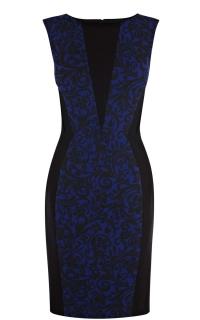 Brocade print dress at Karen Millen