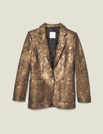 Brocade tailored jacket at Sandro