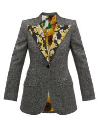 Brocade-trimmed wool-blend tweed jacket at Matches