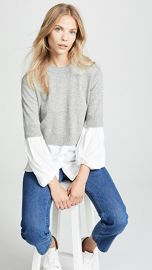 Brochu Walker Ebele Layered Crew Sweater at Shopbop