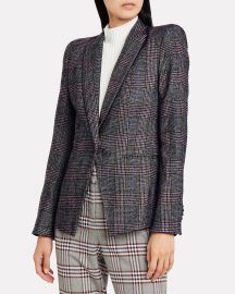 Brock Glen Plaid Dickey Blazer by Veronica Beard at Intermix