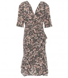 Brodie Floral-Printed Silk-Stretch Dress by Isabel Marant at My Theresa