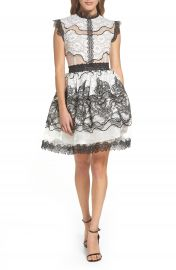 Bronx and Banco Orchid Cap Sleeve Lace Dress at Nordstrom