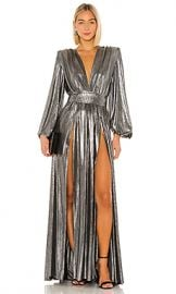 Bronx and Banco Zoe Silver Gown in Silver from Revolve com at Revolve