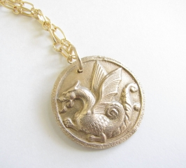 Bronze Dragon Necklace at EvaLine Jewelry