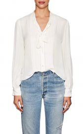 Brook Silk Tieneck Blouse by L\'Agence at Barneys