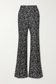 Brooke lace and crepe flared pants at Net a Porter