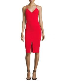 Brooklyn Slit-Front Slip Dress by Likely at Neiman Marcus
