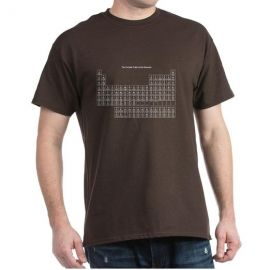 Brown periodic table tee at Amazon