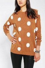 Brown polka dot sweater at Urban Outfitters at Urban Outfitters