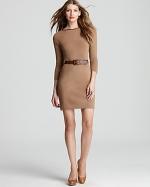 Brown shift dress like Janes at Bloomingdales