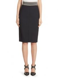 Brunello Cucinelli - Wool Pencil Skirt at Saks Fifth Avenue