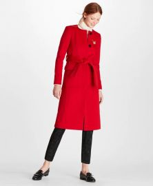 Brushed Wool Twill Wrap Coat by Brooks Brothers at Brooks Brothers