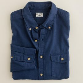 Brushed twill utility shirt in Blue at J. Crew