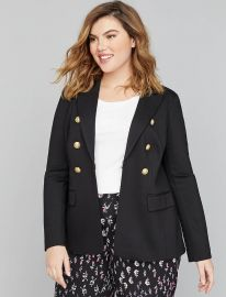 Bryant Blazer - Double Breasted Ponte by Lane Bryant at Lane Bryant