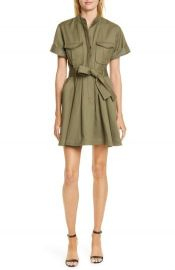 Bryn Belted A-Line Dress by A.L.C. worn by Beth Behrs on The Talk at Nordstrom
