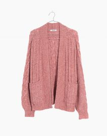 Bubble Sleeve Cable Knit Cardigan at Madewell