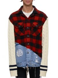 Buffalo Check Denim Jacket by Greg Lauren at H. Lorenzo