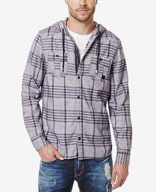 Buffalo David Bitton Men s Siklaus Plaid Hooded Shirt at Macys
