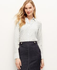 Bumble Bee Perfect Silk Shirt at Ann Taylor
