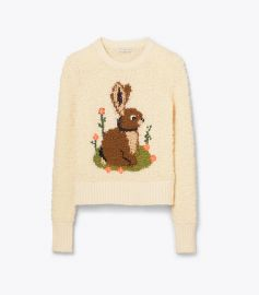 Bunny Intarsia Sweater by Tory Burch at Tory Burch
