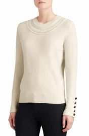 Burberry Carapelle Cashmere Sweater in White at Nordstrom