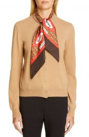 Burberry Scarf Neck Cashmere Cardigan   Nordstrom at Nordstrom