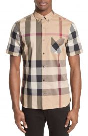 Burberry Thornaby Trim Fit Check Sport Shirt at Nordstrom