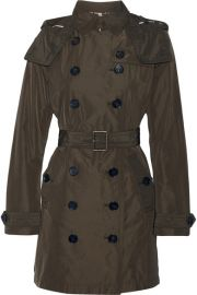 Burberry   Balmoral Packaway hooded shell trench coat at Net A Porter