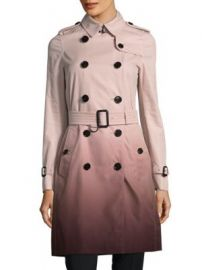 Burberry - Double-Breasted Cotton Coat at Saks Off 5th