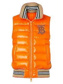 Burberry - Hessle Logo-Embroidered Down Puffer Vest at Saks Fifth Avenue