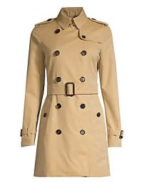 Burberry - Kensington Mid-Length Heritage Cotton Trench Coat at Saks Fifth Avenue
