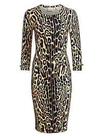 Burberry - Leopard Midi Dress at Saks Fifth Avenue