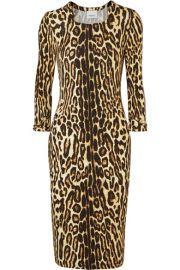 Burberry - Leopard-print stretch-jersey dress at Net A Porter