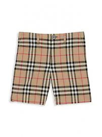 Burberry - Little Boy  039 s  amp  Boy  039 s Tristen Woven Cotton Check Shorts at Saks Fifth Avenue