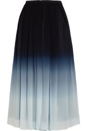 Burberry - Ombr   silk-chiffon midi skirt at Net A Porter