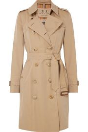 Burberry - The Chelsea cotton-gabardine trench coat at Net A Porter