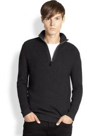 Burberry Brit - Lapworth Half Zip Pullover in grey at Saks Fifth Avenue