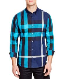 Burberry Brit  Fred  Trim Fit Sport Shirt in Blue at Nordstrom