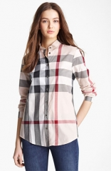 Burberry Brit Check Woven Shirt at Nordstrom