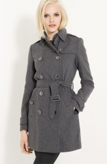Burberry Brit Double Breasted Wool Trench at Nordstrom