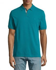 Burberry Brit Short-Sleeve Pique Polo Shirt Dark Teal at Neiman Marcus