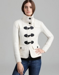 Burberry Brit Toggle Zip Sweater Jacket at Bloomingdales