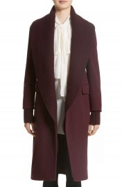 Burberry Cairndale Knit Trim Cashmere Coat at Nordstrom