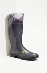 Burberry Check Pattern Rain Boot at Nordstrom