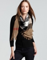 Burberry Color Check Wool Scarf at Bloomingdales