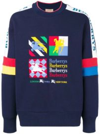 Burberry Colour Block Embroidered Archive Logo Sweater - Farfetch at Farfetch
