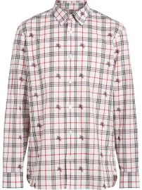 Burberry Fil Coup   Check Cotton Shirt - Farfetch at Farfetch