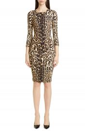 Burberry Leopard Print Body-Con Dress   Nordstrom at Nordstrom